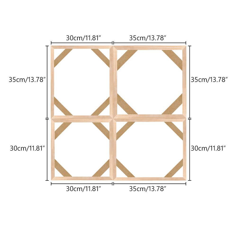 22x24 Inch Canvas Stretcher Bars Frame,Framed Picture Accessories,Wood Canvas Frame Kit,DIY Art Canvas Frames 55x60cm