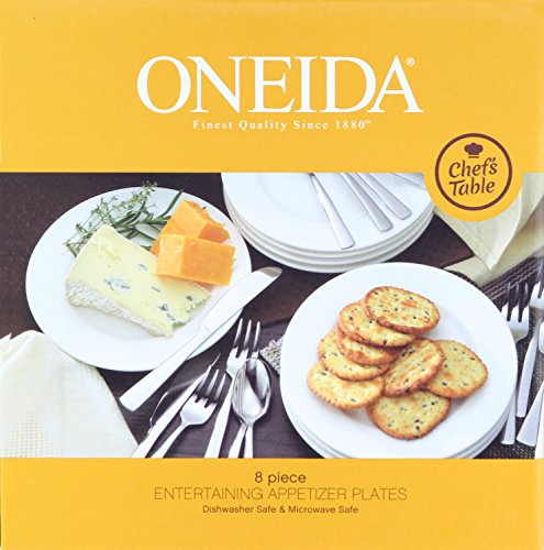 Oneida Chef's Table Dinnerware and Flatware Entertaining Sets (8-Pc Appetizer Plates)