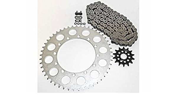 Red O-Ring Drive Chain /& Sprockets Kit Fits HONDA CR125R 2004 2005 2006 2007