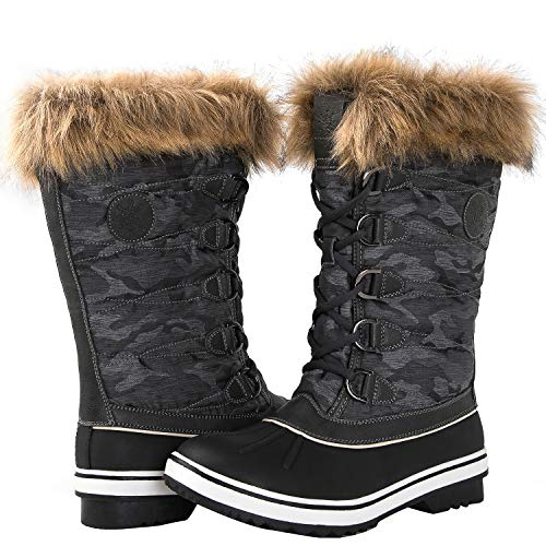 GLOBALWIN Women's 1837 Grey Winter Snow Boots 7M