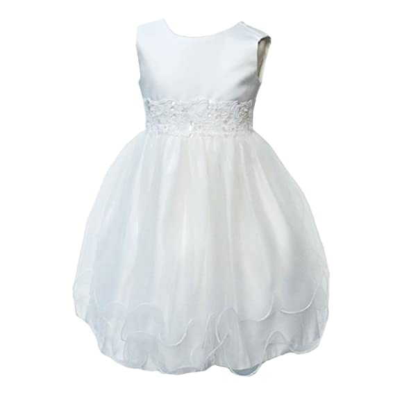 f0e8d6042 BABY GIRLS IVORY WEDDING BRIDESMAID CHRISTENING DRESS  Amazon.co.uk ...