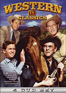 Western TV Classics (Sky King / Wagon Train / Fury / Adventures of Kit Carson) (4-DVD)