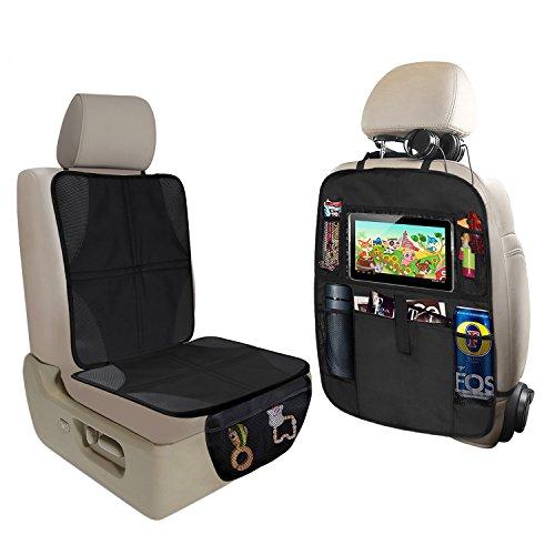 KNGUVTH Car Seat Protector + Kick Mats Auto Backseat Protect