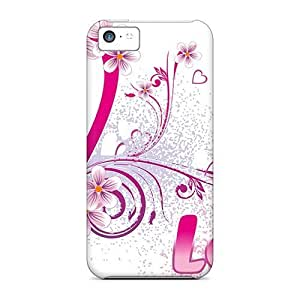 MMZ DIY PHONE CASESnap-on Case Designed For ipod touch 5- Love Design 2
