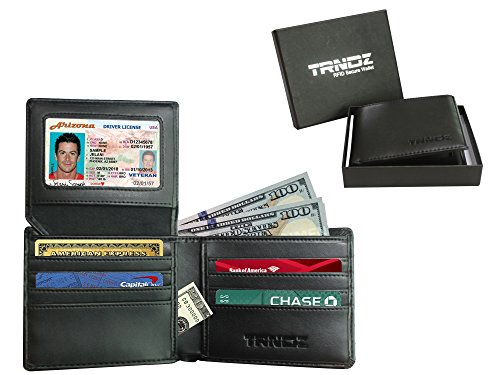 RFID Blocking Genuine Leather Wallet