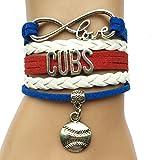 Infinity Love Cubs Baseball Bracelet Handmade Sports Team Baseball Charm Team Bracelet