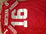 Joe Montana San Francisco 49ers Scarlet Red Throwback Jersey Large