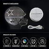 Bigfoot 3D LED Night Light Football Helmet Dallas