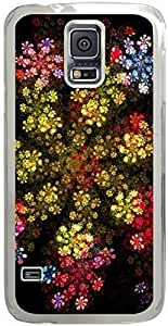 Chevron Retro Vintage Tribal Nebula Pattern Galaxy S5 Cases - Compatible With Samsung Galaxy S5 SV i9600 - Hard Shell Transparent Samsung Galaxy S5 SV i9600 Cover Cases Awesome Flowers