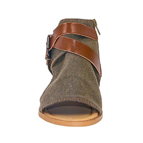 Tasainen Sandaalit Ruskea Varvas Naisten Clip 730 Kesäkengät Aptro nxq7Hvw