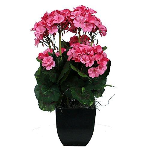 - Vickerman F12142 Everyday Geranium Arrangement, Pink