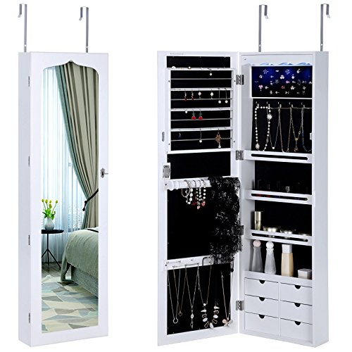 SONGMICS LED Jewelry Cabinet L