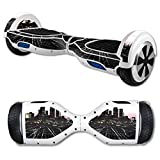 MightySkins Protective Vinyl Skin Decal for Hover Board Self Balancing Scooter mini 2 wheel x1 razor wrap cover sticker Urban Night