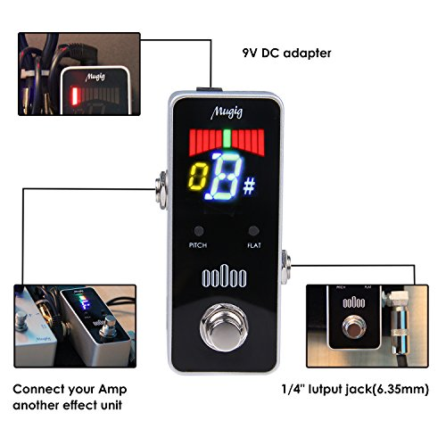 Tuner Pedal for Guitar and Bass - Mini - Chromatic - with Pitch Calibration and Flat Tuning by Mugig by Mugig (Image #2)