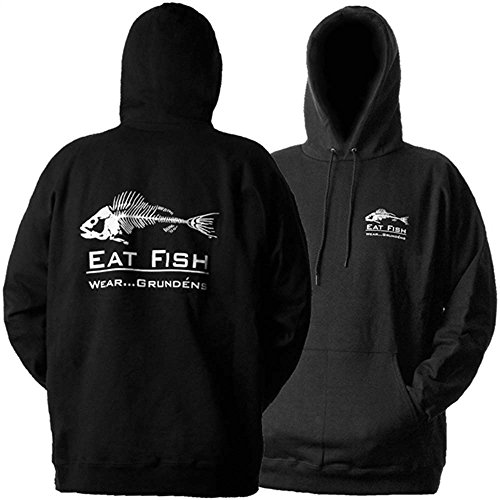 Grundens HSEF Men's Eat Fish Hooded Sweatshirt, Black - L