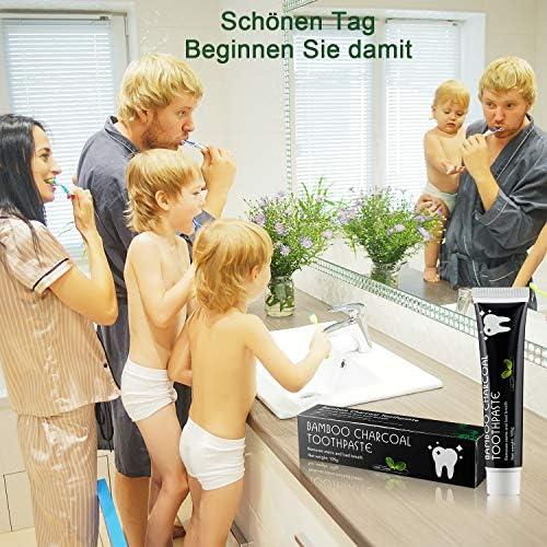 Aktivkohle Zahnpasta -Whitening Schwarze Zahncreme -Natürliche Zahnaufhellung und Zahnreinigung Bambus Kohle Zahnpasta -Bleaching Bamboo Charcoal Toothpaste -Aktivkohle Zahncreme Raucher 2Stück