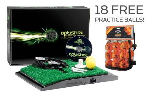 OptiShot Home Golf Simulator w/ 18 FREE Callaway HX Practice Balls