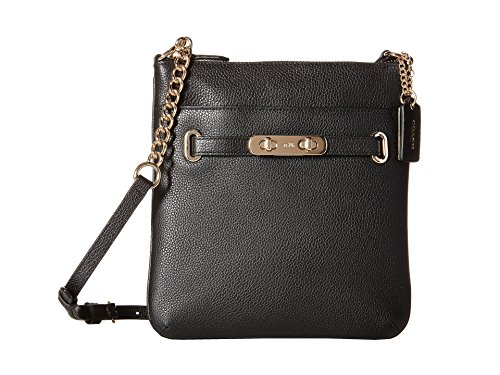Pebbled Leather Coach Swagger Swingpack
