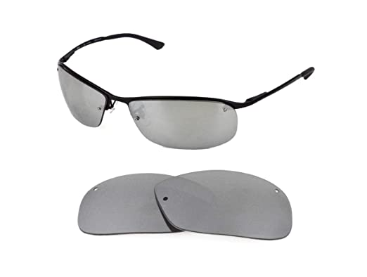 546453a6db NEW POLARIZED REPLACEMENT SILVER ICE LENS FOR RAY BAN RB3183 63mm  SUNGLASSES  Amazon.co.uk  Clothing