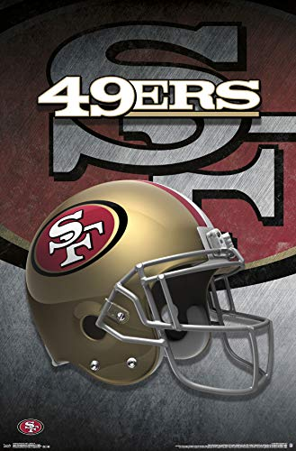 (Trends International San Francisco 49ers-Helmet Mount Bundle Wall Poster, 22.375
