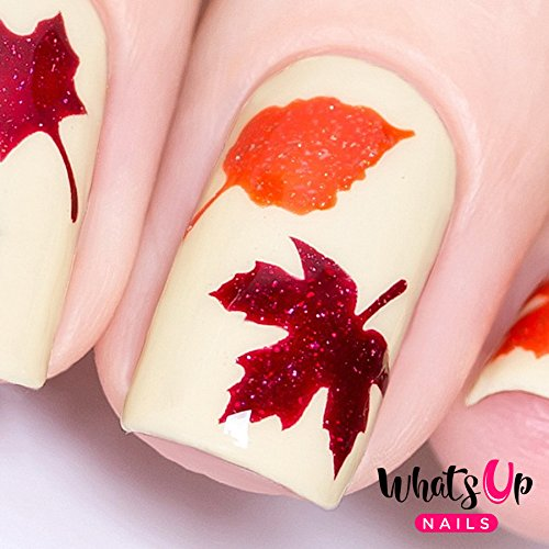 Orange Nail Designs For Halloween (Whats Up Nails - Fall Vinyl Stencils for Nail Art Design (1 Sheet, 20)