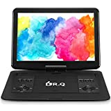 14.1 inch Portable DVD Player with Built-in Rechargeable Battery, Swivel Screen, Car charger