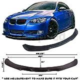 #5: Universal Valance Front Bumper Lip Splitter Chin Spoiler Poly-Urethane BMW E36 E46 E90 E92 (MEASURE your bumper BEFORE purchase: 66.75