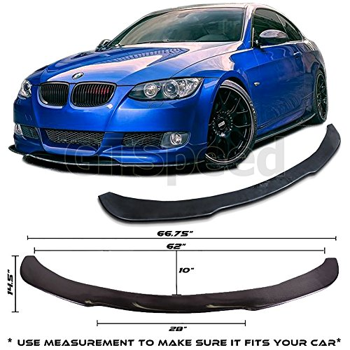 GTSpeed Made Universal Valance Front Bumper Lip Splitter Chin Spoiler Poly-Urethane BMW E36 E46 E90 E92 (MEASURE your bumper BEFORE purchase: 66.75
