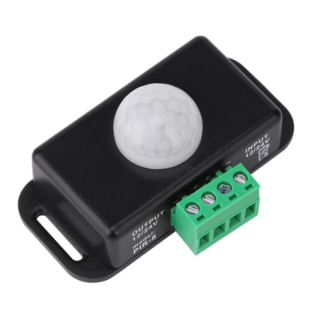 Ahomi Interruptor de sensor de movimiento DC 12V//24V Interruptor de tira de luz LED infrarroja de cuerpo autom/ático PIR