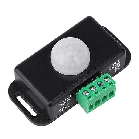Ahomi Interruptor de sensor de movimiento DC 12V/24V Interruptor de tira de luz LED