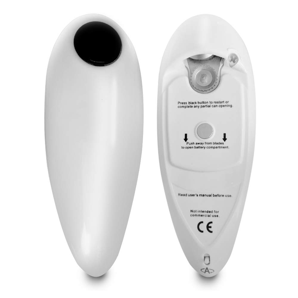 One Touch, Hands-Free, Automatic, Battery Operated, Electric Can Opener | For Seniors with Arthritis | Eliminate Hand Pain and Help Prevent Injuries and Strain by WareHome Supply