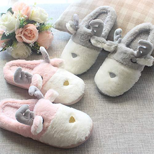 Morbido E Grau Calde Per Natalizio Rosa Antiscivolo Pantofole Ideali Cotone In Treestar L'inverno Unisex 39 Stile L'autunno 38 Peluche fFtOwZn