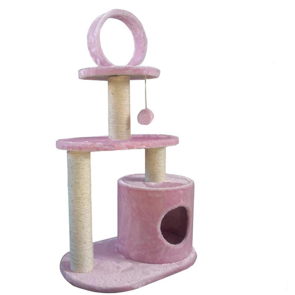 Hexiansheng Cat Climb Trees Pet Small cat Tree cat Platform Plush Fabric cat nest 60  35  103cm