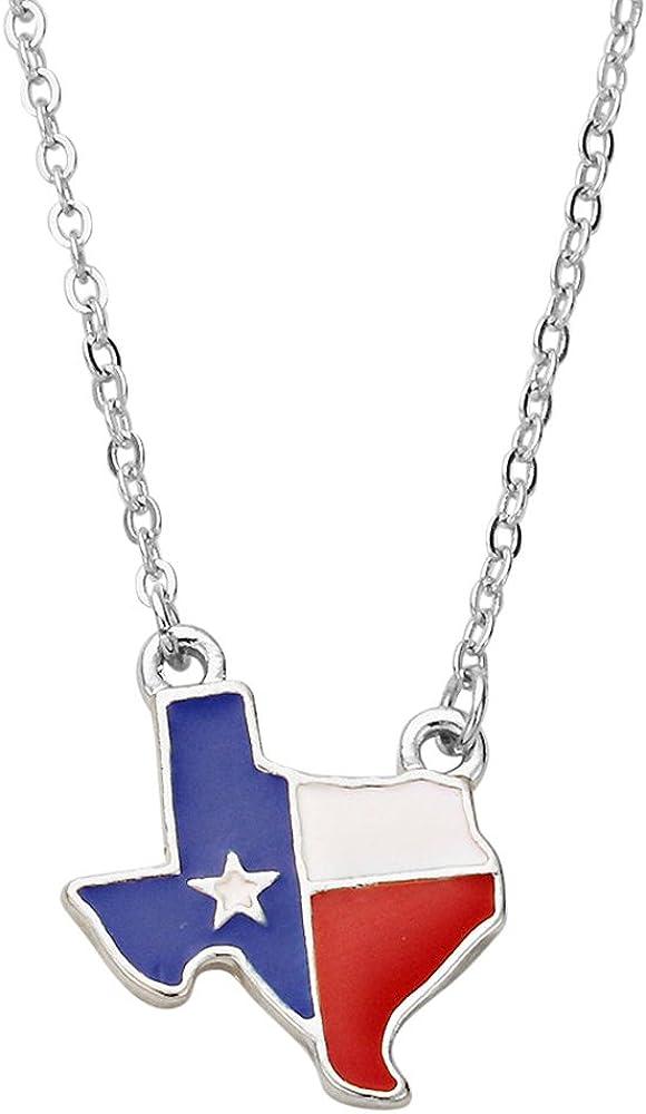 Texas Flag Charm Necklace