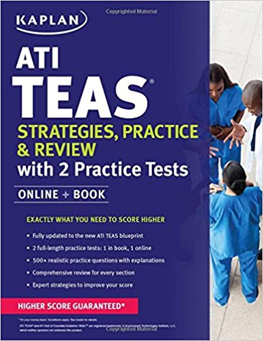 ATI TEAS Strategies Practice Review With 2 Tests Online Book Kaplan Test Prep 1st Edition