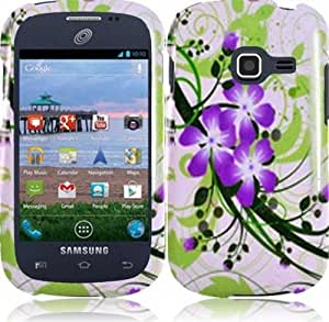 Hard Cover Plastic Green Lily Snap On Case For Samsung Galaxy Centura S738C (StopAndAccessorize)