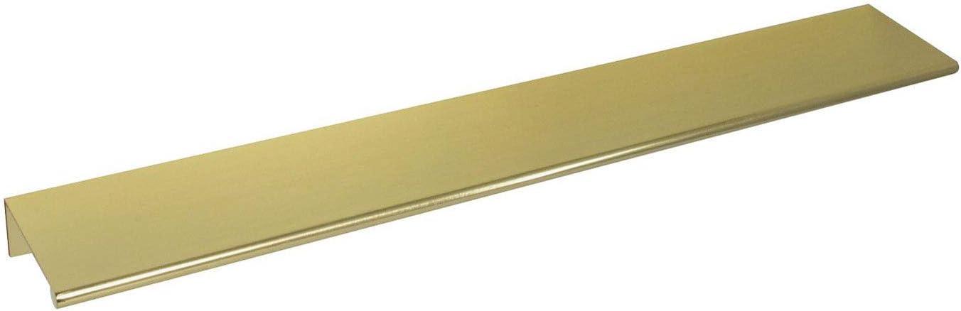 #3306-12 in. CKP Brand Back Mount Finger Edge Pull, Brushed Brass