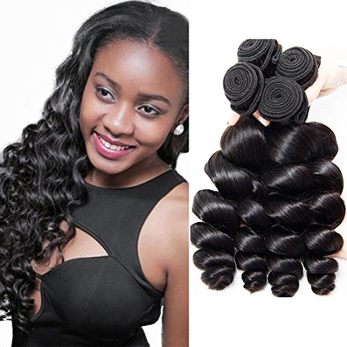 Peruvian Loose Wave 4 Bundles Short Hair Bundles Unprocessed Virgin Human Hair Weave Double Weft Real Human Hair For Black Women Wholesale Hair Extensions Vendors Natrual Color 8 10 12 14 Inch