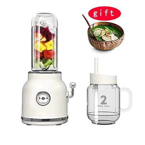 Multifonctionnel Jus De Ménage Automatique Fruits Et Légumes Presse-Fruits Fruits Machine Cuisson Portable Mixeurs,White