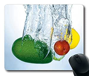 Fruits Fresh Gaming Mouse Pad Personalized Hot Oblong Shaped Mouse Mat Design Natural Eco Rubber Durable Computer Desk Stationery Accessories Mouse Pads For Gift - Support Wired Wireless or Bluetooth Mouse