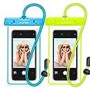 Waterproof Phone Pouch, Ace Teah IPX8 Universal Waterproof Phone Case Underwater Dry Case Bag for iPhone X/8/8plus/7/7plus/6s/6/6s Plus Samsung Galaxy s8/s7 Google Pixel HTC10, 2 Pack
