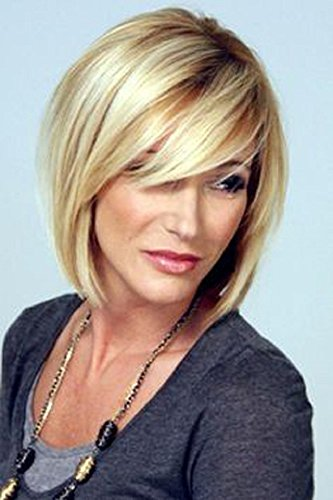 Short Bob Wigs Straight Blonde Wigs Pixie Cut Wigs High Resistant Synthetic Wigs For Women 11 Inch
