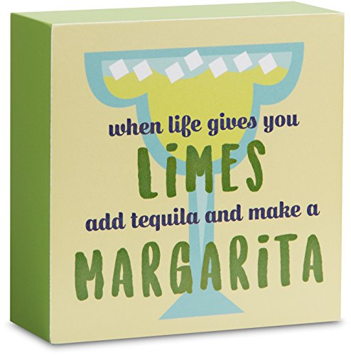 Livin' on the Wedge Decorative Plaque Limes Add Tequila and Make a Margarita Mini