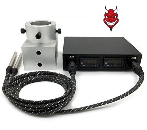 Diablo colofonia prensa 3 x 5 platos Dual PID control de la temperatura elé ctrica uñ as 2 varillas de calefacció n Devil Press Ltd.