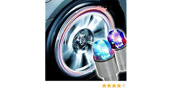 Accessories Energetic New Fashion Auto Accessories Bike Supplies Neon Blue Strobe Led Tire Valve Caps Car-styling Accessories Wholesale #30 Atv,rv,boat & Other Vehicle