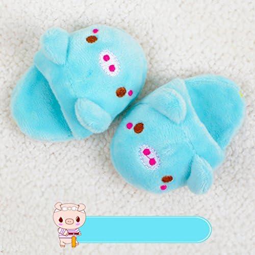 Tachiuwa 1/3 BJDドール シューズ ぬいぐるみ スリッパ かわいい 漫画 デザイン 人形飾り ブルー