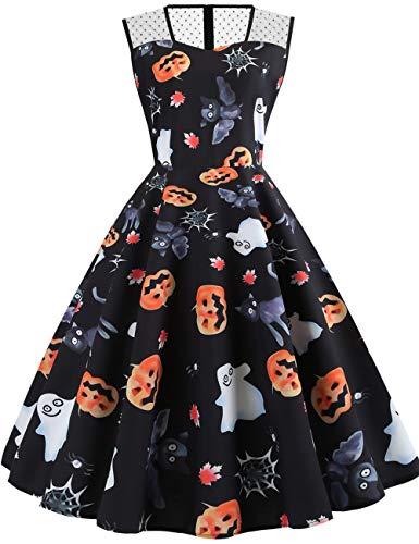 GreaSmart Halloween Dress, C-lace Sleeveless Graveyard Dress, Large(fits like US 8-10)]()