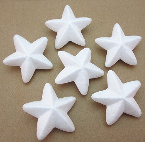 Dandan DIY 40pcs Smoothfoam Star Shaped Foam Craft Making Foam Ball Wedding Decor Diy Supply (5CM/2'')