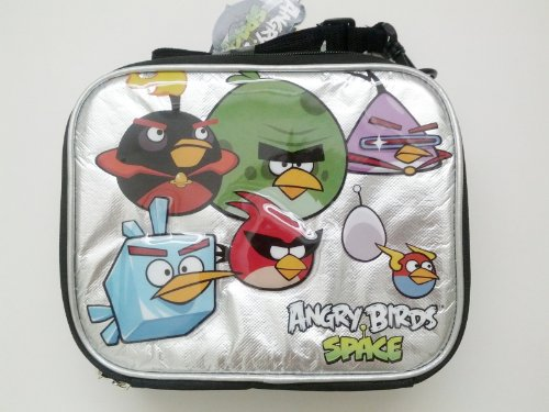 Angry birds Space White Foil Insulated Lunch Bag, Baby & Kids Zone