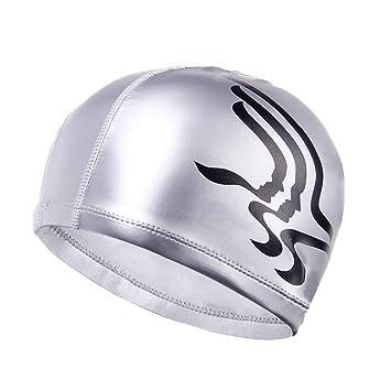 Gorra de natación GX Color sólido de Silicona cómodo Hembra Adulta ...